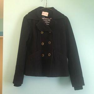Navy blue/black pea coat